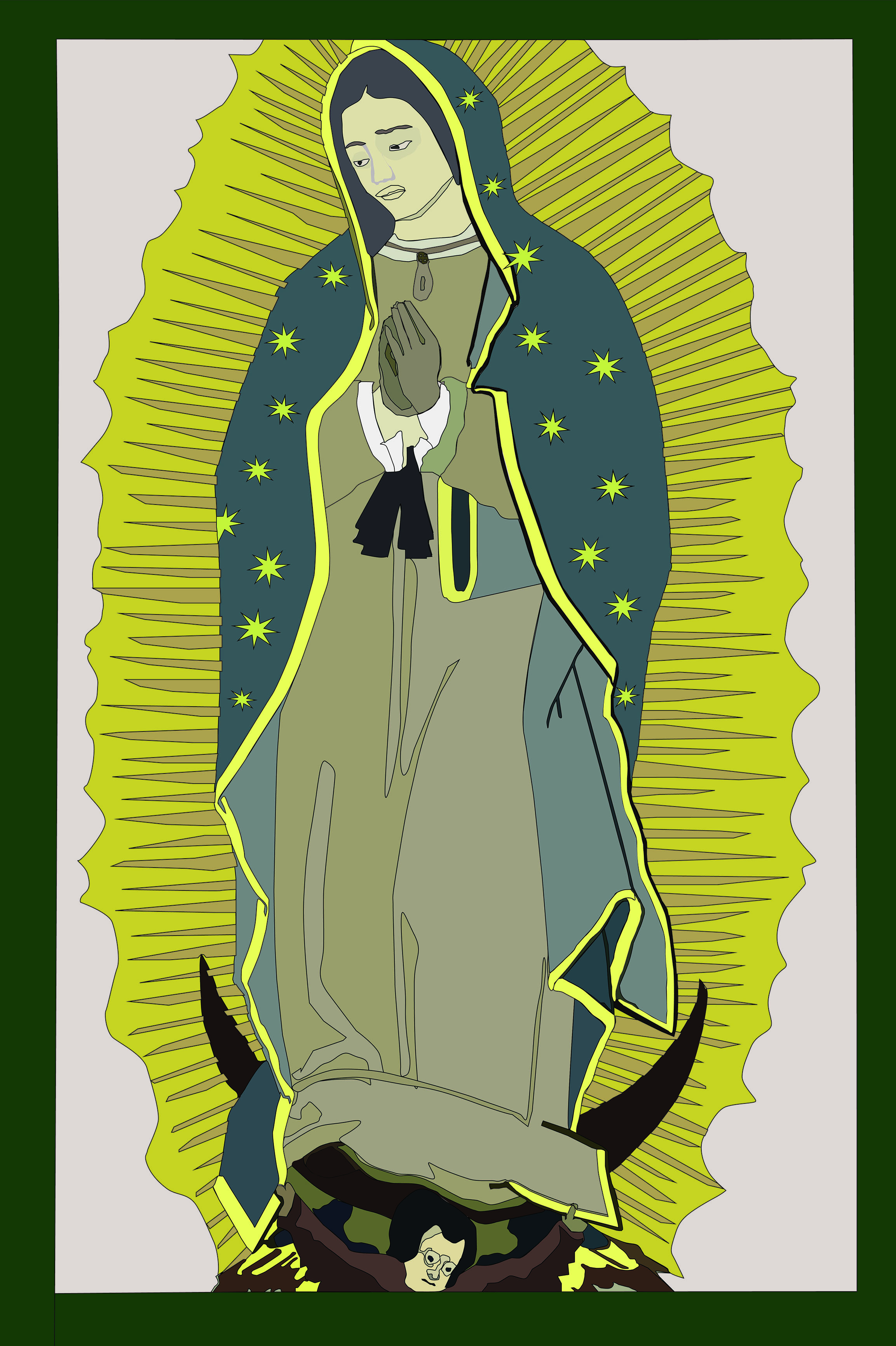 Our Lady of Guadalupe Illustration - Bryan Hewing (2018)