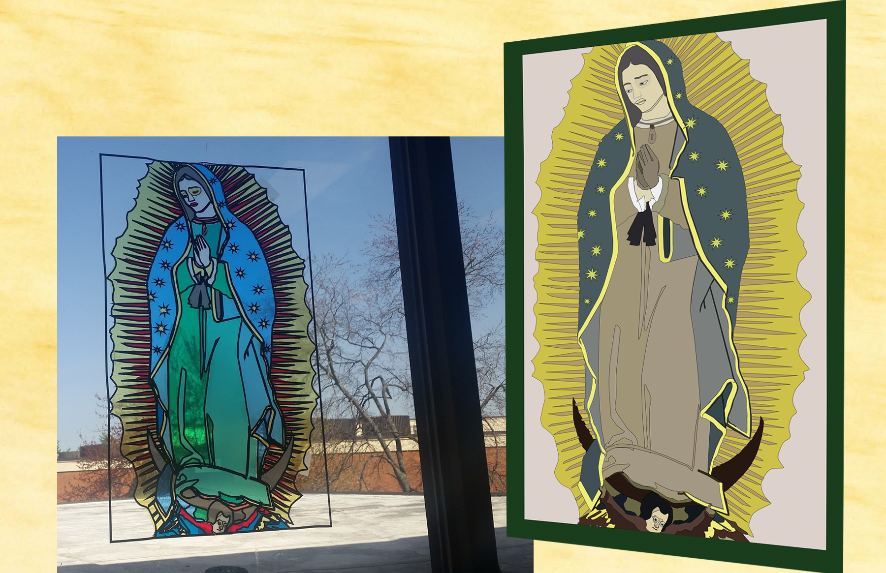 Our Lady of Guadalupe Illustration: Stained Glass Project - Bryan Hewing (2018)